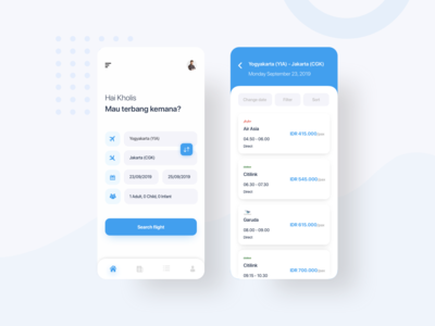 Booking Ticket App Design