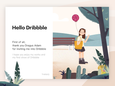 Hello Dribbble! recent hello dribbble illustrations ui invita