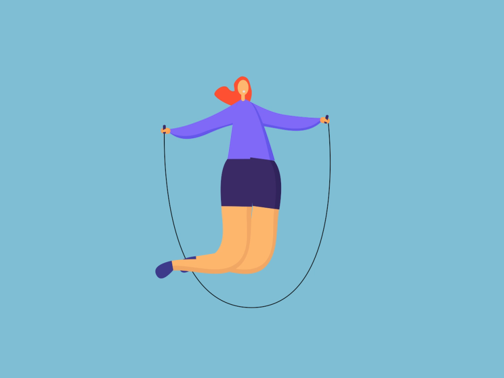Jumping rope dribbble