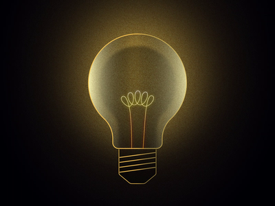 Creative Block jezovic mograph loop middle finger fibre ideas creation lamp flicker animation design motion dark bulb lightbulb light idea creativity block creative