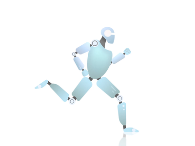 🤖 Humanoid Run Cycle runner running graphics mograph motion illustrator illustration vector jezovic design character 2d gif robot humanoid walk cycle run animation loop