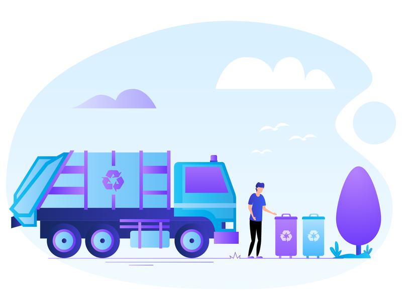 Waste Management Services adobe design illustrator character gradient medical vector colors vivid illustration services management waste