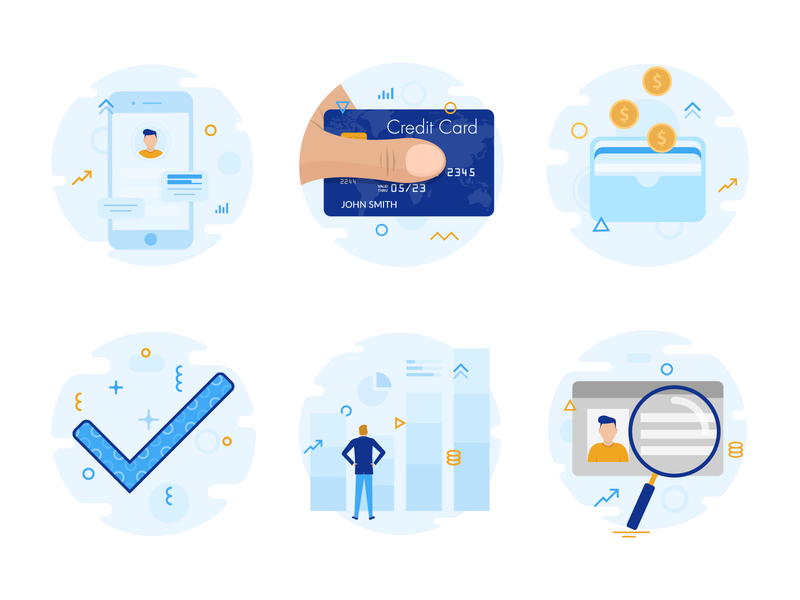 Trading app illustrations illustrations product process wallet dashboard stats flat characters credit card iphone mobile creditcard app money trading onboarding illustrator character illustration vector