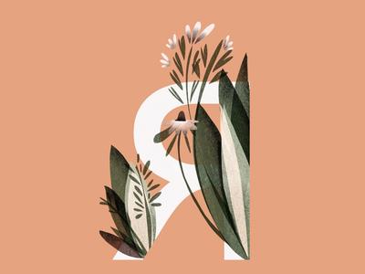 "Alphabet ""Я"" fonts cyrillic art digitalillustration procreate nature logo illustration lettering letters alphabet"