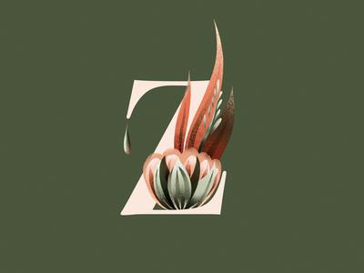 Z logo fantastic nature flowers logodesign digitalillustration illustration customletters lettering alphabet