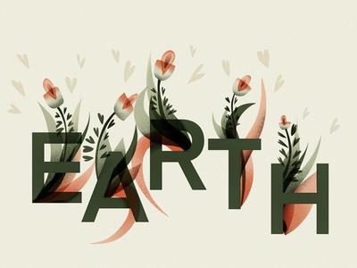 Earth digitalart logo typography customletters alphabet lettering illustration