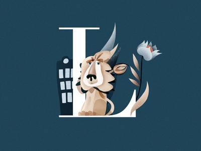 L custom lviv logo lion lettering customletters illustration letters alphabet