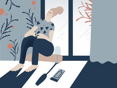 My 2020🙄 flat girl lifestyle digitalillustration vector vectorillustration ilustration