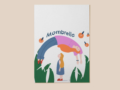 Mombrella love care family mom illustrator digital illustration