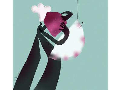 Digital illustration Strawberry Love
