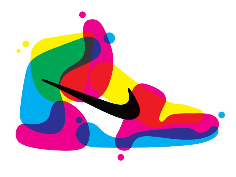 AJ1 design vector graphic screenprint print cmyk swoosh nike air jordan sneaker