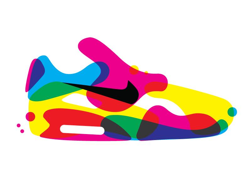 Air Max 90 illustration digitalart print cmyk shoe sneaker air nike airmax90 airmax