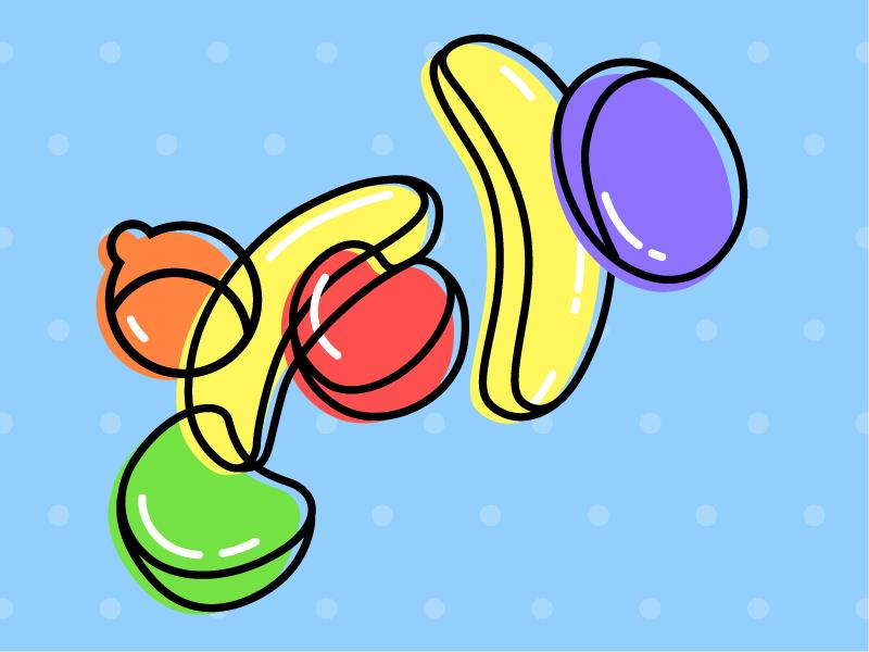Runts pop illustration popart fruit candy runts