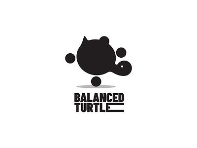 Balanced Turtle Logo turtle minimal vector brand branding identity design creative logotype logo