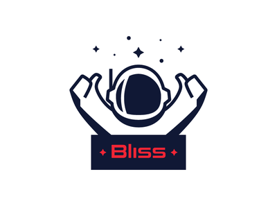 Bliss / Logo Design spaceman twitch austronaut bliss space modern minimal modern logo logo icon logo design identity branding adobe illustrator