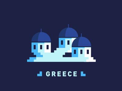 Greece Blue House