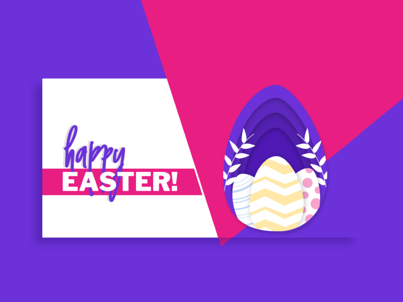 Happy Easter Social Media Post Design for Pisano