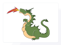 St. George's Day Dragon Drawing