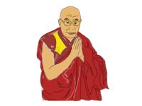 14th Dalai Lama Illustration