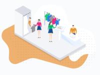 Pisano New Landing Design - Store Illustration