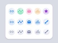 Dashboard Icon Set Sketches