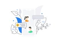 Mobile Chatting Background Illustration