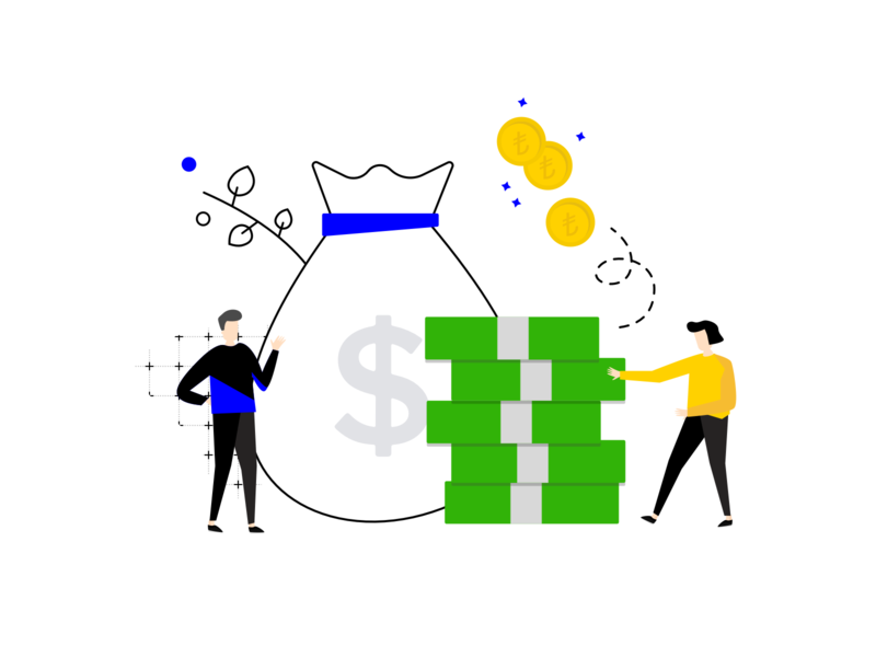 money money money - earn income illustration branding product money income profit earn feedback drawing character customer illustration