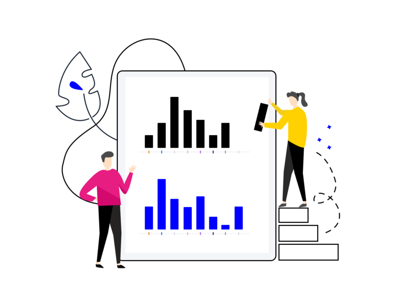 Reports - Character Illustration kiosk reporting report design design logo report reports journey branding feedback drawing character customer illustration