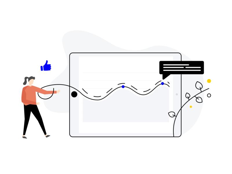 Customer Experience Kiosk customer support experience customer experience customer service vector branding feedback journey character customer illustration