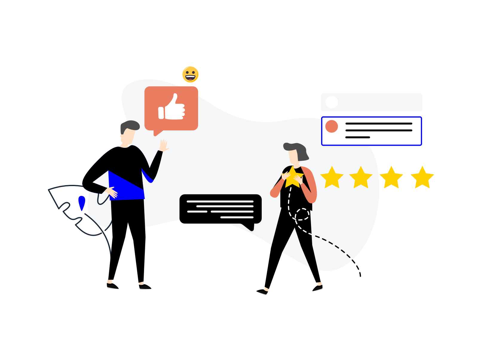 satisfied customers in e-commerce