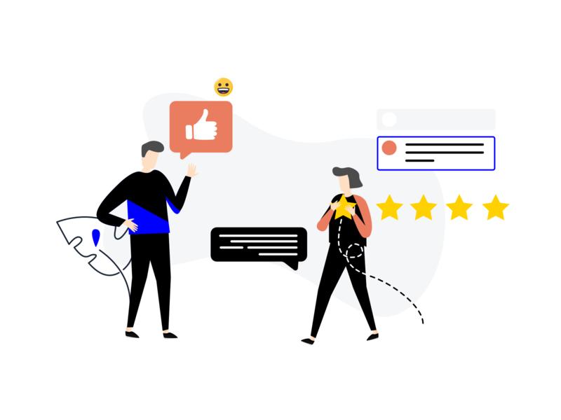 Customer's Feedback customer success customer support experience customer experience customers customer service feedback form customerfeedback branding feedback journey drawing customer illustration