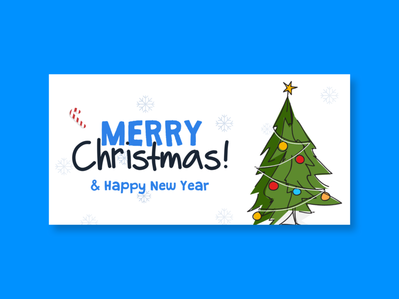 Merry Christmas & Happy New Year Card new year creative card design concept character journey christmas merrychristmas newyearcard newyear happy new year card