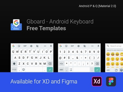 Android Keyboard Mockups for XD and Figma - FREE design free android ui figmadesign figma adobe xd adobexd xd keyboards keyboard gboard