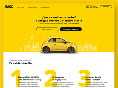 Car Selling Service Landing Page copywriting ui steps car client work real work landing page