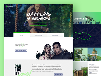 Obstacle course racing corporate website texture sport desktop website corporate ux ui obstacle course racing ocr