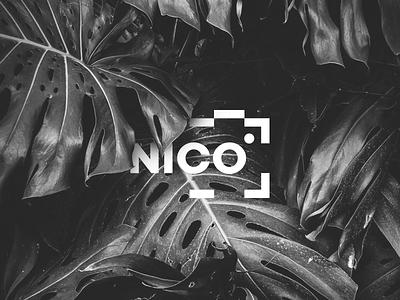 Nico Photography logos logodesign logotype easy clean branding logo photography nico