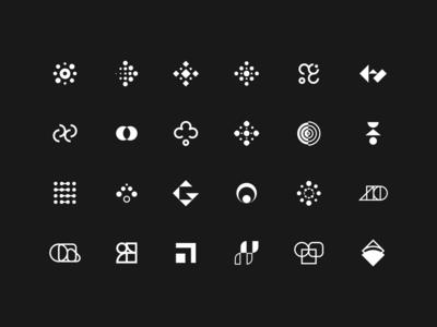 Logo Exploration minimalist logo logo design logos shapes geometry clean minimalistic branding iteo minimal options logo symbol sign