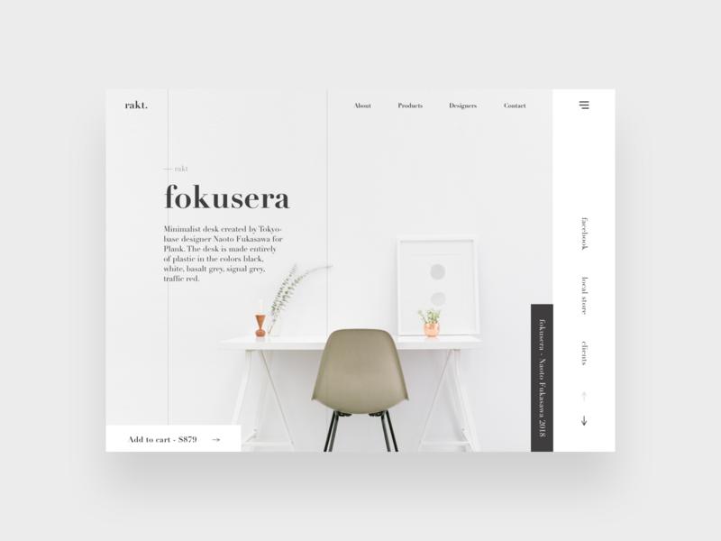Fokusera branding grey sherif minimal minimalistic clean ui web design design web