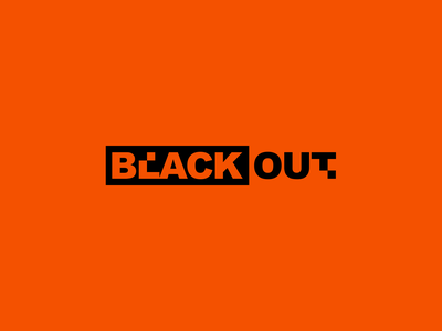 Blackout black strong brand identity brand design branding heavy logo