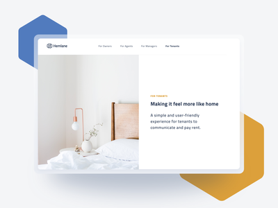 Hemlane design minimalistic shapes clean website ui iteo hemlane