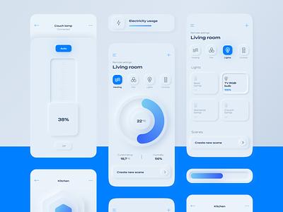 Skeuomorph Concept App iteo minimalistic elegant concept app skeuomorphism