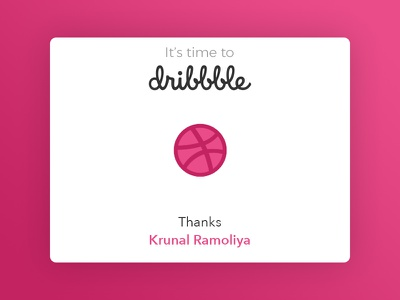 It's time to Dribbble!!! dribbble first shot debut