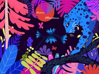 Colorful animal world