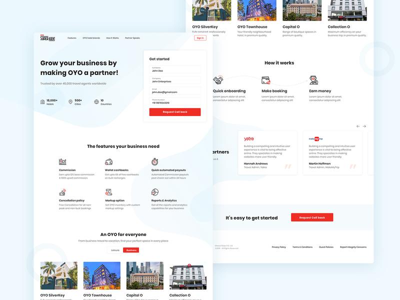 Partner Website - OYO