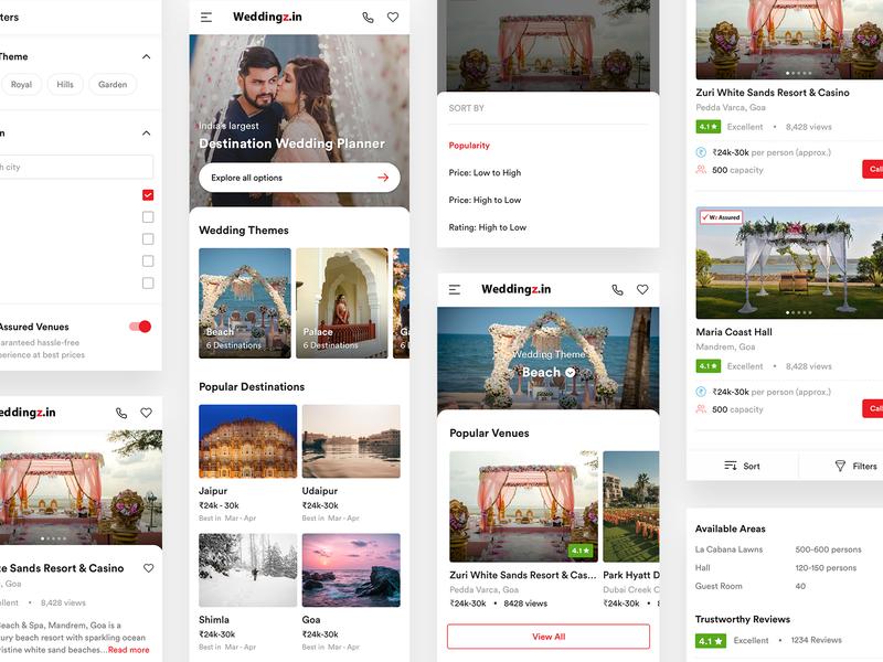Mobile Website - Weddingz (OYO)