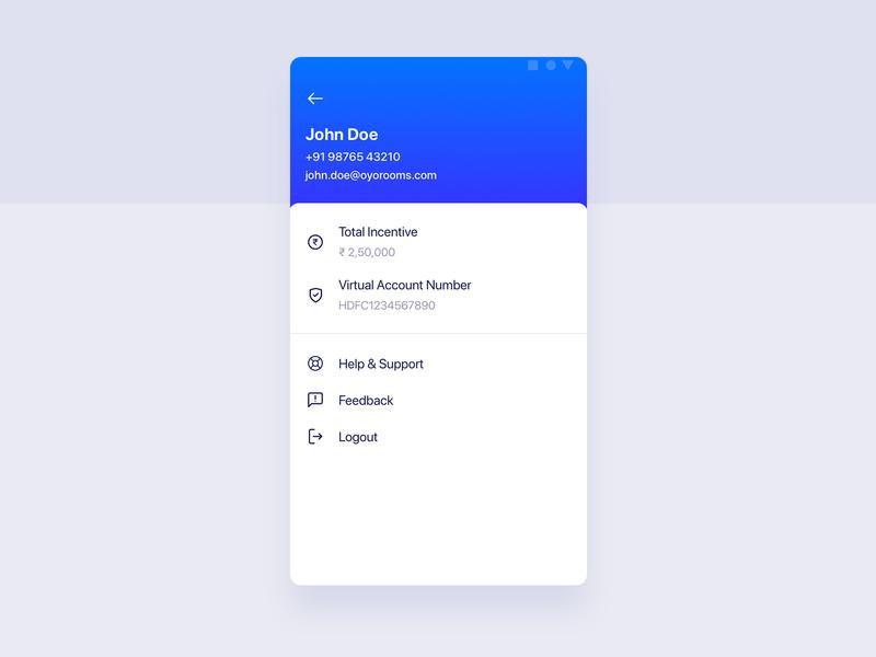 Profile Page - OYO Sales App