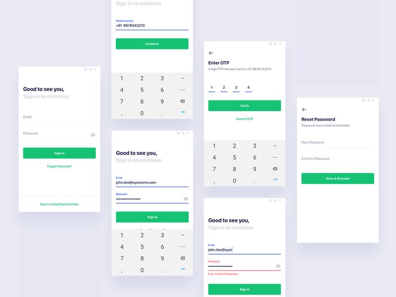 Login Flow - OYO Sales App