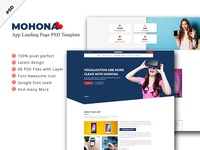 Mohona App Landing Page Psd Template