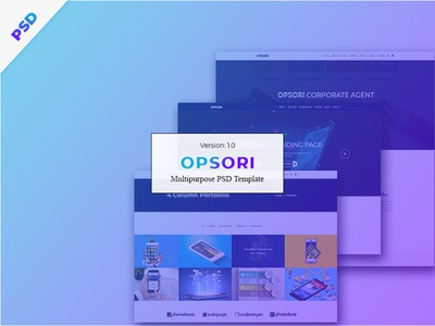 Opsori   Multipurpose Psd Template startup saas portfolio photography parallax modern knowledge base gradient creative corporate business blog app agency