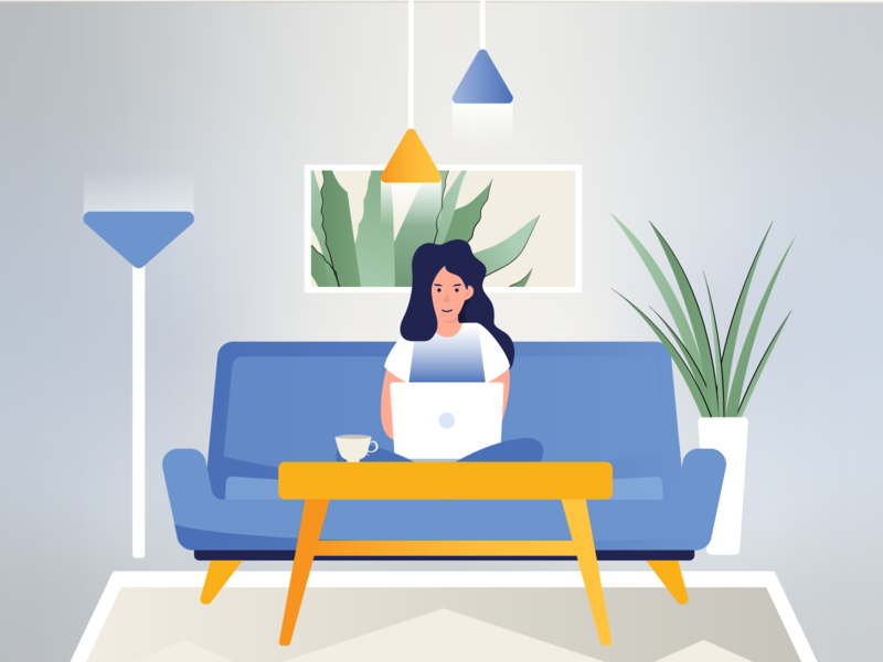 Work from home work from home flat  design graphic design design illustration vector illustrator illustration design